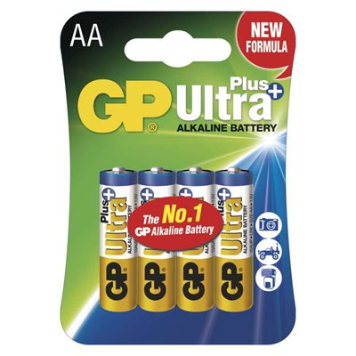 Alkalická baterie GP Ultra Plus AA - 4 ks