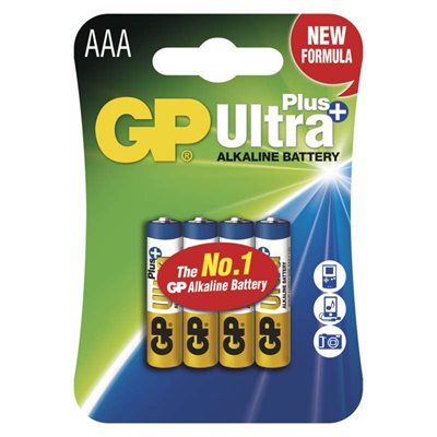 Alkalická baterie GP Ultra Plus AAA - 4 ks