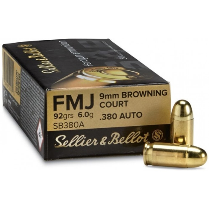 9 mm Browning Court / .380 AUTO - FMJ - Sellier & Bellot