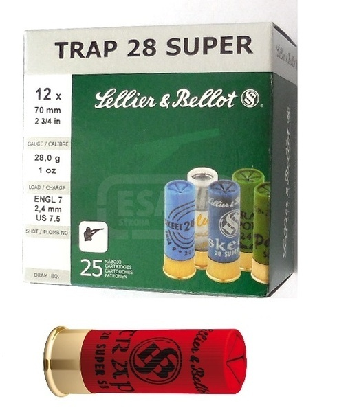 12 x 70 TRAP Super 28 g - Sellier & Bellot